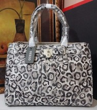 NWT GUESS Greyson Status Carryall Snow Leopard ... - $109.99