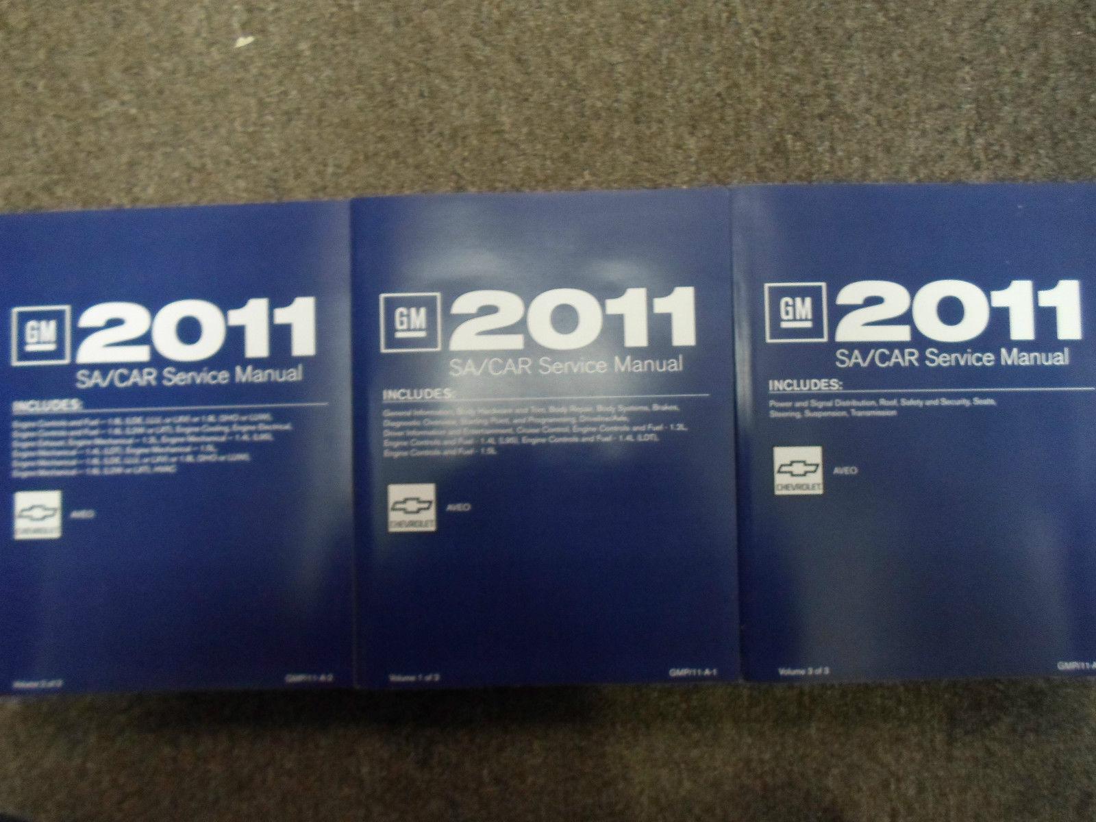 2011 CHEVY AVEO A V E O Service Shop Repair Manual SET FACTORY Brand New