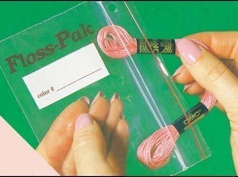 Floss Pak 100 extra bags 3x5 Pack floss organizer cross stitch