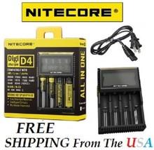 NITECORE All in One Digi D4 Charger Li-ion, Ni-MH, Ni-Cd 26650 18650 183... - $29.97
