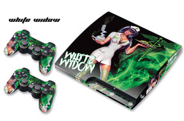 Skin Decal Wrap for PS3 Slim Playstation Gaming Console Controller 3 PS3Slim WW - $11.76