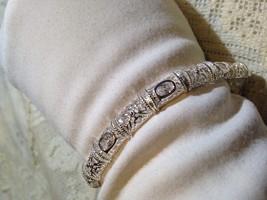 Vintage 95.5% Sterling Silver Crystal Tennis Bracelet - $126.22