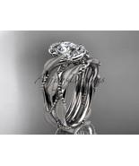 Platinum  diamond engagement set with a  Moissanite center stone ADLR65S - $2,840.00
