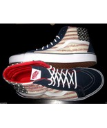 Vans Sk8-Hi Reissue Americana Dress Blues Skate shoes Size 11 VN000ZA0GYD New - £33.85 GBP