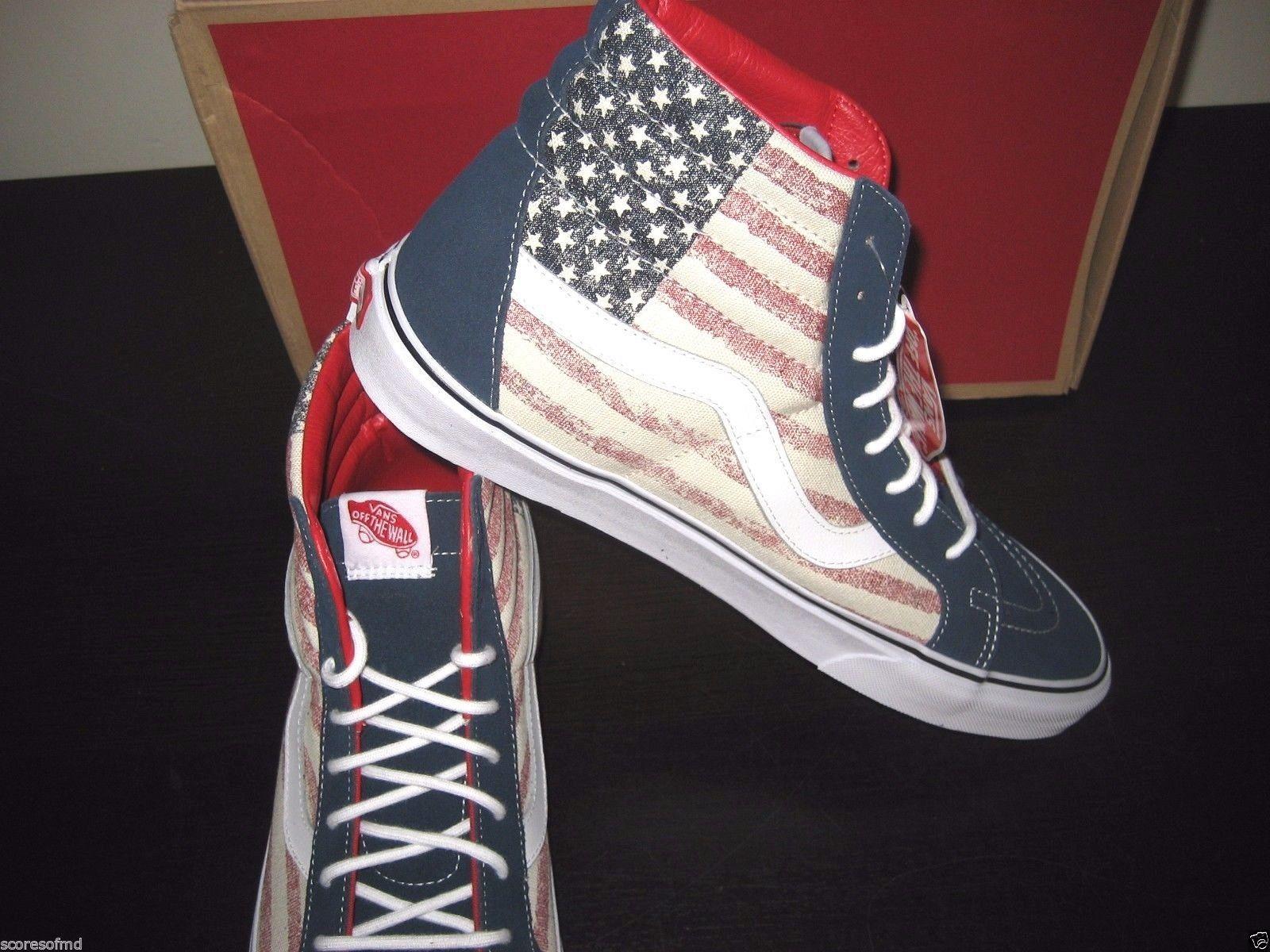 Vans Sk8-Hi Reissue Americana Dress Blues Skate shoes Size 11 VN000ZA0GYD New