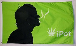 ipot Marijuana Flag 3' X 5' Indoor Outdoor Pot Banner - $9.95