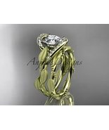 14kt yellow gold diamond engagement set with a Moissanite center stone A... - $1,880.00