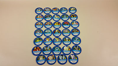 Pokemon Master Trainer board game replacement blue pokemon chips 34 pieces