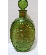 Ezra Brooks Old Ironside Green Whiskey Bottle with Stopper - $20.00