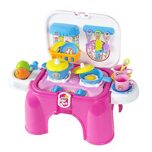 Kids Toy Pretend Kitchen Cooking Playset with L... - $28.99