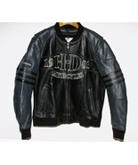 Harley Davidson Leather Bomber Jacket Black and... - $275.00