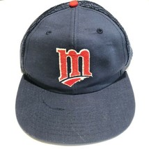 Minnesota Twins Throwback Logo Mesh Adjustable Trucker Snapback Hat Baseball Cap - $22.95