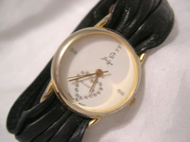 "L64, JG Jalga, Ladies Watch, Heart of Crystals, 8.5"" Leather Strap, w/b - $31.79"