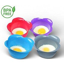 Egg Poacher Cups Silicone BPA Free Cooking Perfect Poached Eggs Microwav... - $19.61 CAD