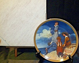 """""""Waiting on the Shore"""" by Norman Rockwell Plate with Box AA20-CP2221 Vintage"""
