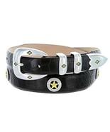 Presidential Gold Star Black Dress Golf Belt (Alligator Black, 34) - $909,32 MXN