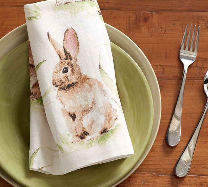 Pasture-bunny-napkin-set-of-4-stock