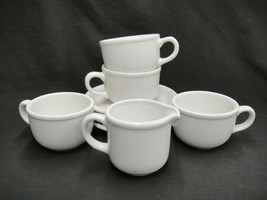 Studio Nova White Meringue HN002 Lot of 4 Cups & Saucers and 1 Creamer - $14.84