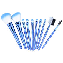 Ovonni 10-Piece Blue Travel Cosmetic Makeup Brush Set With Case - $99.99