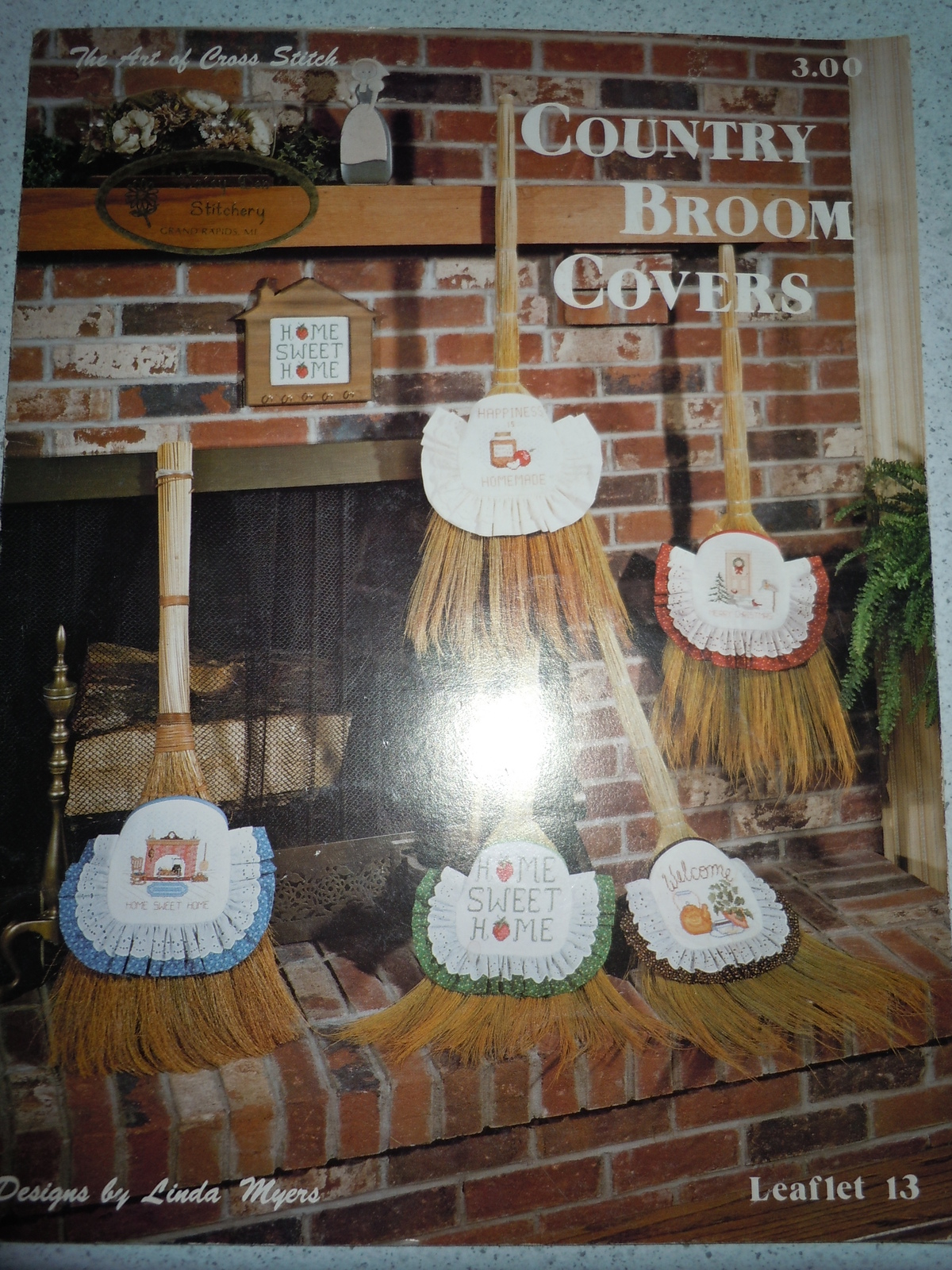 Country Broom Covers Cross Stitch Pattern Book 1982