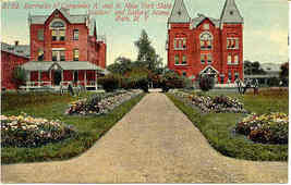 Soliders and Sailors Home Bath New York Vintage Post Card - $6.00