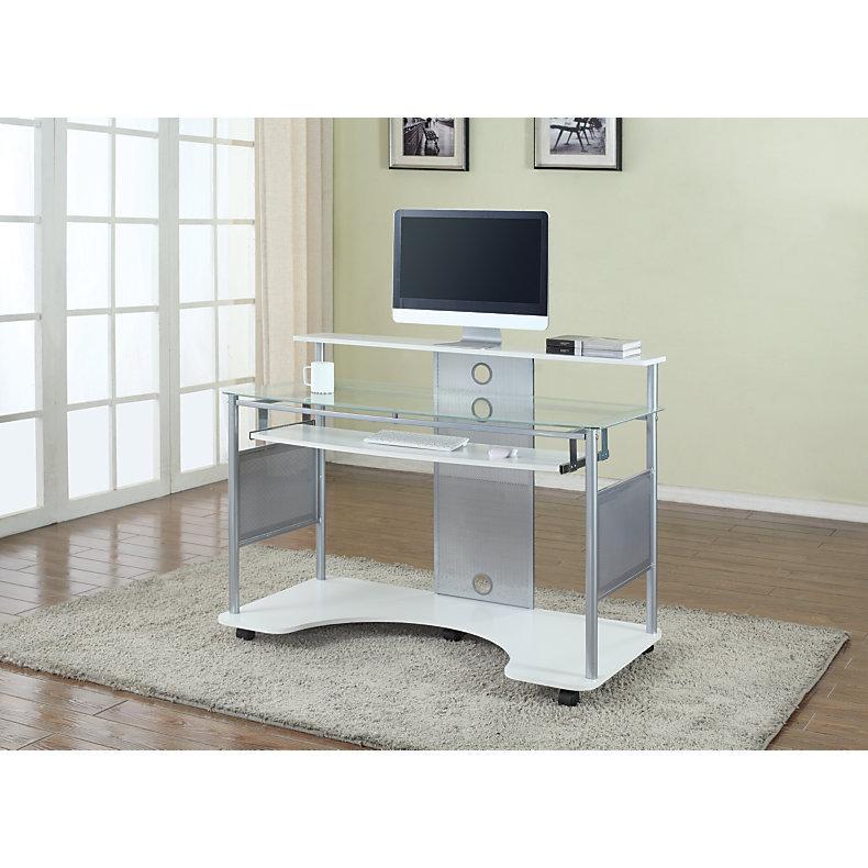 Z Line Designs Mobile Workstation Desk White 656589 Desks Tables