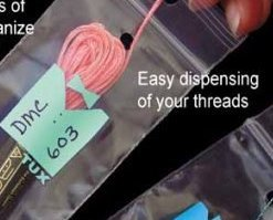 Pistachio Thread Tux 2x7 zip lock 100 pack floss storage bag