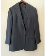 Hart Schaffner & Marx Men's Dark Gray 44R 2 Button Pinstripe 2 Piece Suit - $69.78