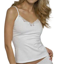 Ladies White Cotton Cami Vest  pants sleep set Lace Trim by Figleaves Size 12 40 - $6.68