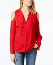 INC International Concepts womens Cold-Shoulder long sleeve Blouse Top R... - $15.29