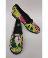 Cougar Womens Shoes Rain Skimmers Rubber Multi-Color Floral Ruby Size 11 - $24.70
