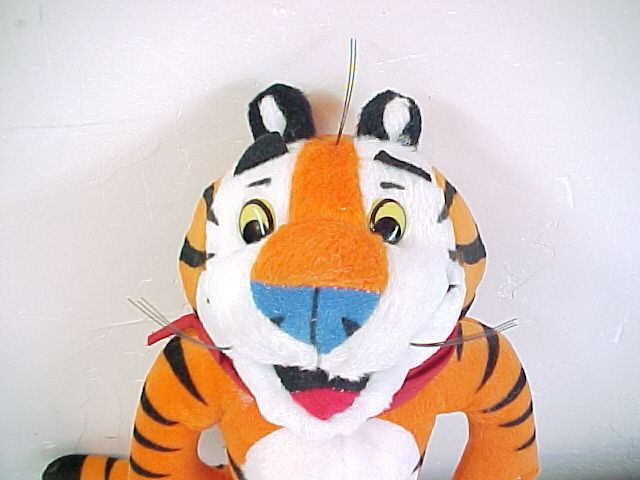 """1993 Kellogg Co. Frosted Flakes PlushTony the Tiger  - 9""""- In Original Packaging"""