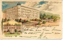 Gruss aus Baden Baden Germany vintage 1904 Post Card - $15.00