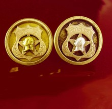 1880s Victorian Cufflinks P.O.S. of A. Fraternity Antique gold * vintage... - $225.00