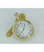 Rose London Antique Repro Gold Colored Pocket Watch With Long Chain and Clip - $17.22