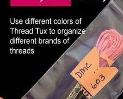 Apricot Thread Tux 2x7 zip lock 100 pack floss storage bag