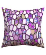 DENY Designs Ingrid Padilla Violet Cells outdoor throw pillow 16 X 16 new - $62.75 CAD