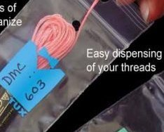 Cornflower Thread Tux 2x7 zip lock 100 pack floss storage bag