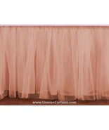 Daybed PEACH Tulle Ruffled Bed Skirt in any drop length - $75.99+