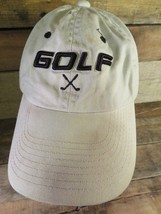 GOLF Khaki Black Adjustable Adult Hat Cap - $8.90