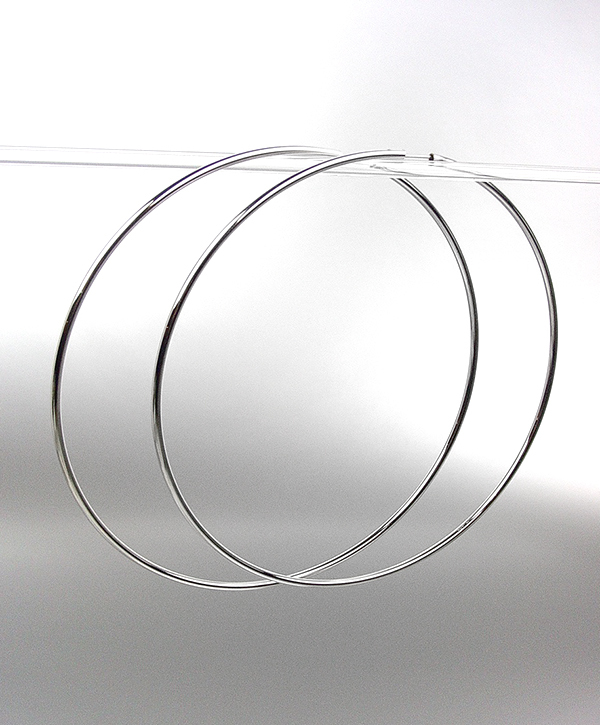 """CHIC Lightweight Silver Continuous INFINITY 3"""" Diameter Hoop Earrings 5091542 - $15.99"""