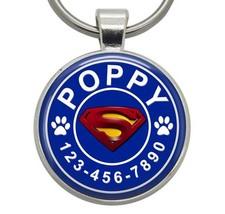 Pet ID Tag - Superman - Dog ID Tag, Cat ID Tag, Pet Tag, Dog Tag, Cat Tag - $19.99