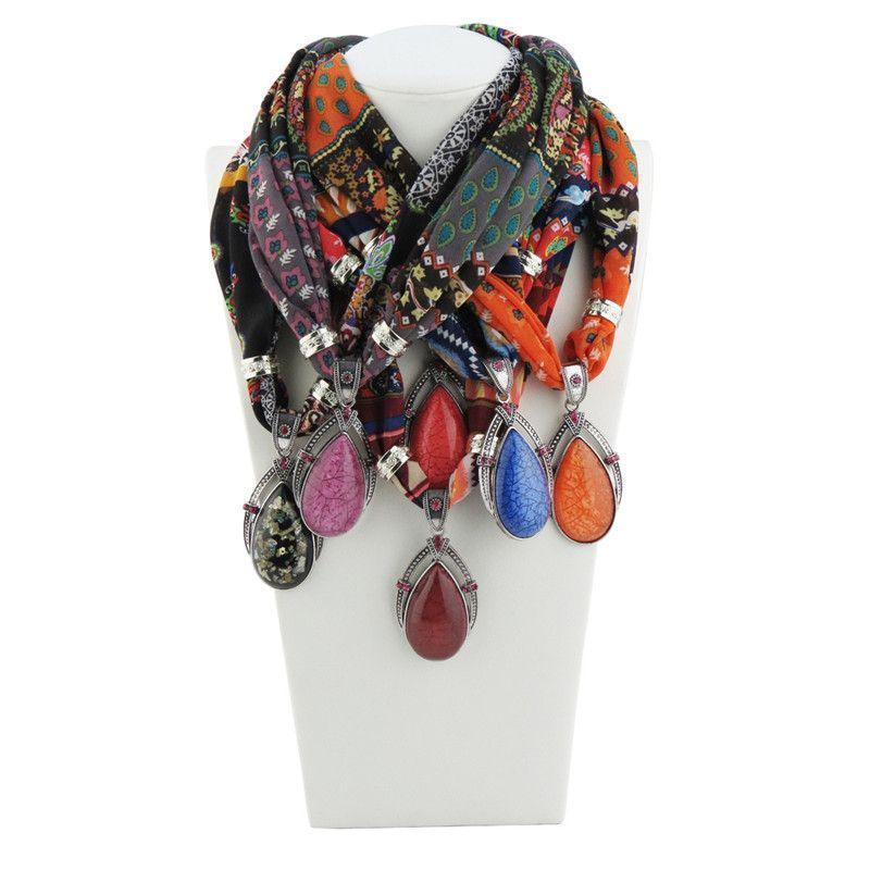 1pcs Women's Scarves Necklace Printed Chiffon neck scarf decorations