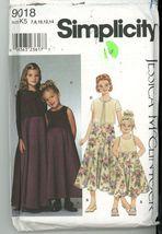 Simplicity 8018 Jessica McClintock Girls Dress and Knit Cardigan UNCUT S... - $2.00