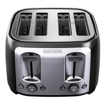BLACK+DECKER TR1478BD 4-Slice Toaster, Black - $44.95