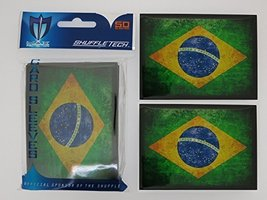 Max-Pro 100 Brazil Brazilian Flag Shuffle-Tech Sleeves Iconic Flags Collection ( - $9.09