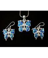 Sterling Silver Pendant Earrings Set Hawaiian O... - $33.00