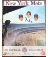 1969 New York Mets Yearbook autographed by Tug McGraw, Tommie Agee, Ed K... - $299.00