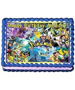 Pokemon Personalized Edible Cake Topper Image -- 1/4 Sheet - $8.50