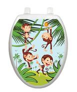 Toilet Tattoos Toilet Lid Cover  Decor Monkey B... - $13.99